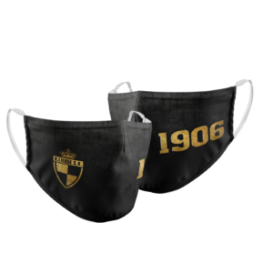 Mondmasker Lierse Black & Brushed Gold 1906