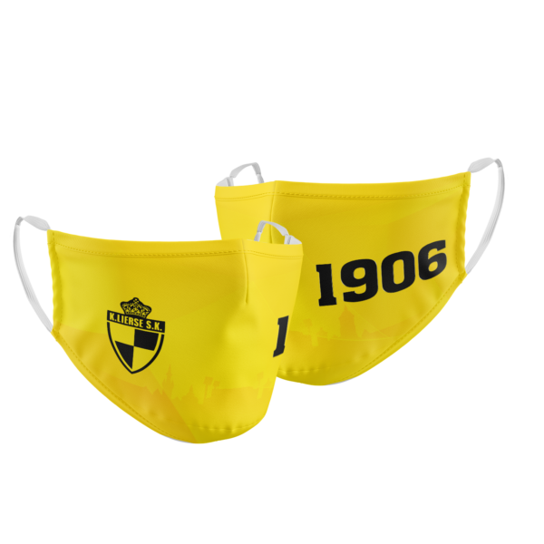 Mondmasker Lierse Yellow Black